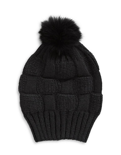 Parkhurst Joe Fur Slouchy Beanie-BLACK-One Size