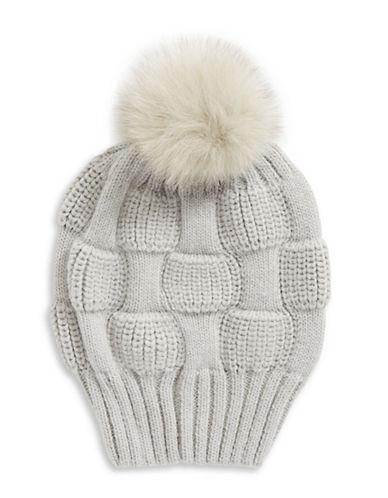 Parkhurst Joe Fur Slouchy Beanie-BEIGE-One Size