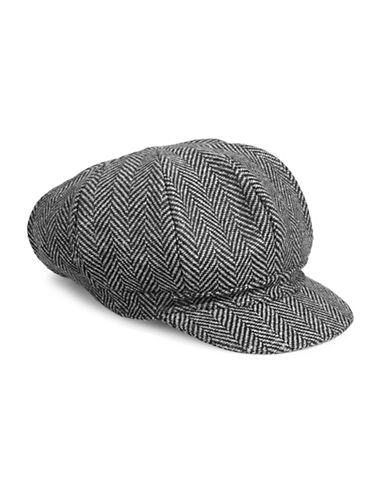 Parkhurst Textured Poor Newsboy Hat-HERRINGBONE-One Size
