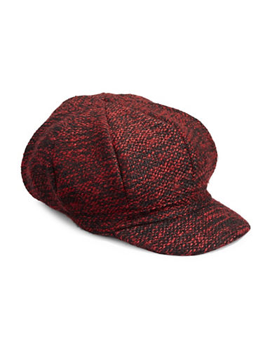 Parkhurst Textured Poor Newsboy Hat-RED-One Size