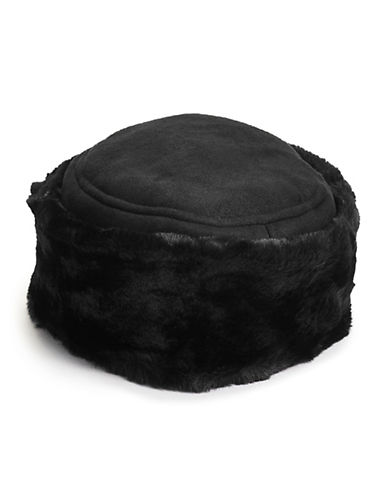 Parkhurst Plush Faux Shearling Hat-BLACK-One Size