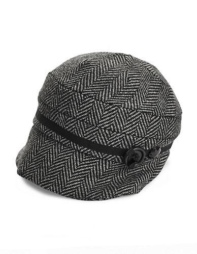 Parkhurst Asymmetrical Peak Hat-BLACK H-One Size