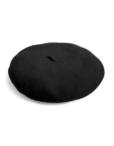 Parkhurst Felted Wool Beret-BLACK-One Size