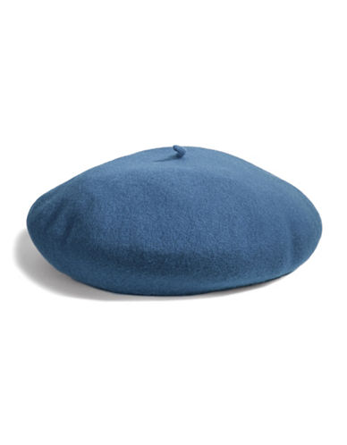 Parkhurst Felted Wool Beret-BLUE-One Size
