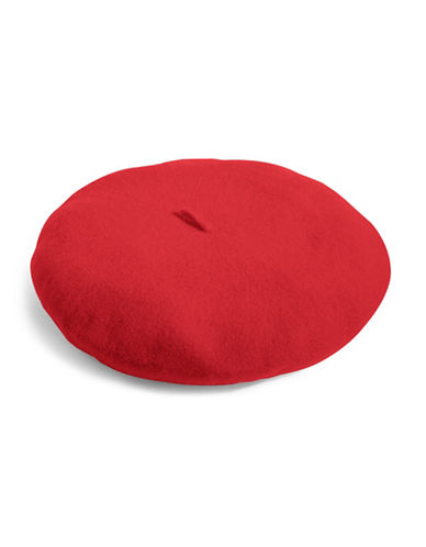 Parkhurst Felted Wool Beret-RED-One Size