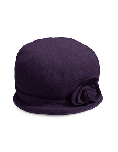 Parkhurst Spencer Wool Cloche Hat-PLUM-One Size