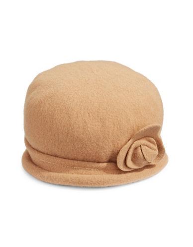 Parkhurst Spencer Wool Cloche Hat-BEIGE-One Size