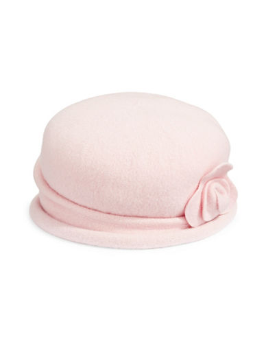 Parkhurst Spencer Wool Cloche Hat-PINK-One Size