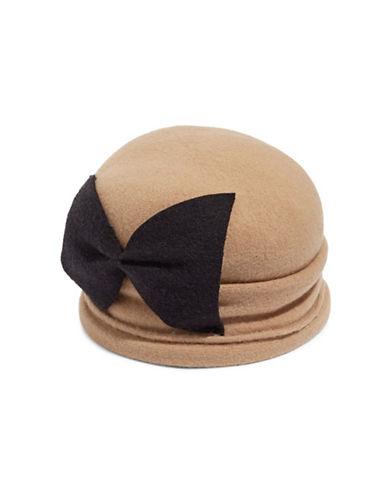 Parkhurst Bellow Wool Cloche Hat-BEIGE-One Size