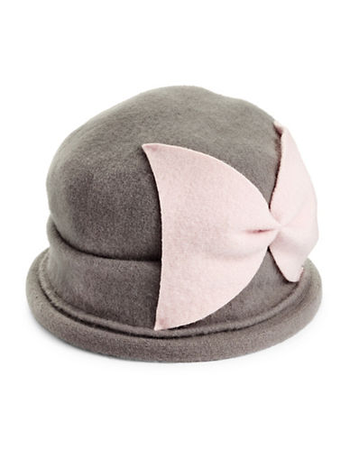 Parkhurst Bellow Wool Cloche Hat-GRAPHITE PINK-One Size
