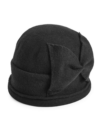 Parkhurst Bellow Wool Cloche Hat-BLACK-One Size