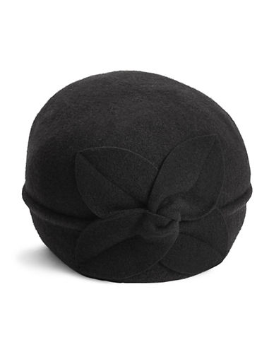 Parkhurst Twist Flower Wool Pull-On Hat-BLACK-One Size
