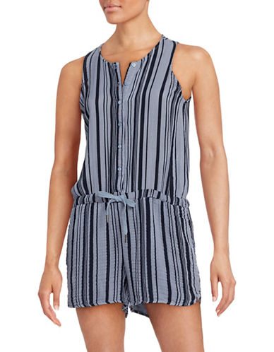 Stateside Sleeveless Stripe Playsuit-BLUE-Large