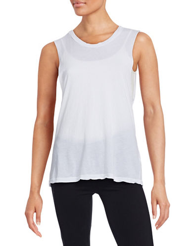 Stateside Jersey Muscle Tank-WHITE-Small