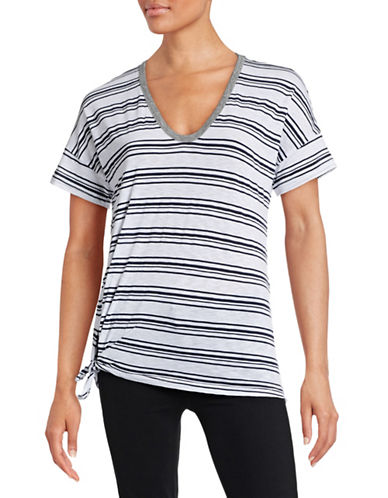 Stateside Striped Side-Tie T-Shirt-WHITE-Small 88396680_WHITE_Small