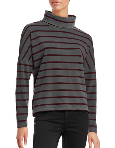 Stateside Striped Mock Neck Sweater-GREY-Small 88645778_GREY_Small