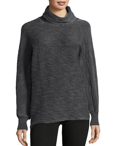 Stateside Boucle Long Sleeve Funnel Neck Sweater-GREY-X-Small 88721774_GREY_X-Small