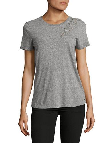 Philanthropy Laced Up T-Shirt-GREY-Medium 89198409_GREY_Medium