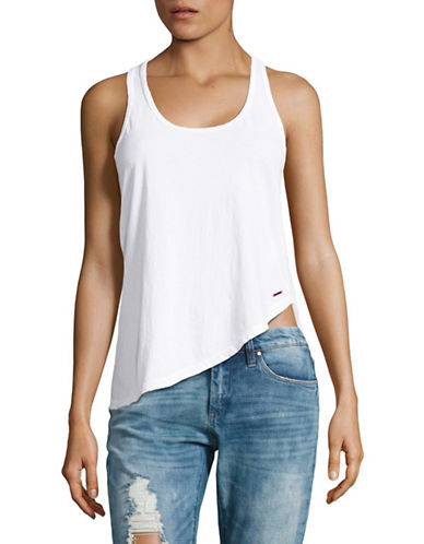 Philanthropy Asymmetrical Tank-WHITE-Medium