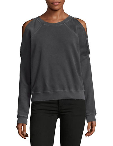 Philanthropy Cold-Shoulder Sweatshirt-GREY-Large 89095058_GREY_Large