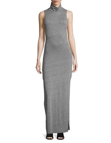 Philanthropy Jett Mock Neck Maxi Dress-GREY-Small