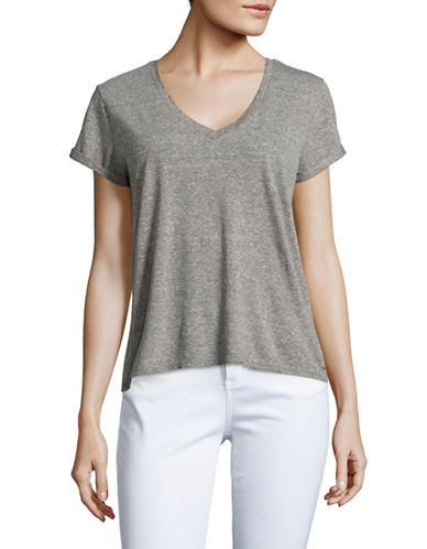 Philanthropy Esme Boyfriend V-Neck T-Shirt-GREY-X-Small 89060908_GREY_X-Small