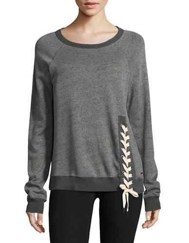 Philanthropy Mika Lace-Up Sweatshirt-GREY-Medium 89060894_GREY_Medium