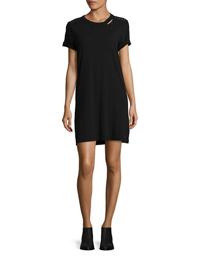 Philanthropy Azul T-Shirt Dress-BLACK-Medium
