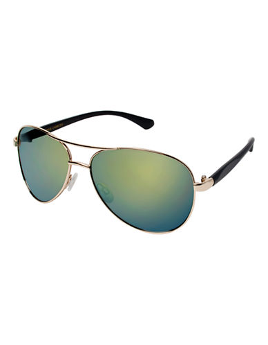 Vince Camuto Classic Aviator Sunglasses-GOLD/BLACK-One Size