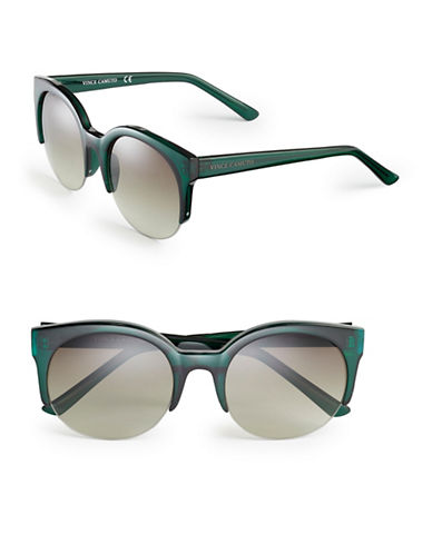Vince Camuto VC671 Semi-Rimless Sunglasses-GREEN-One Size