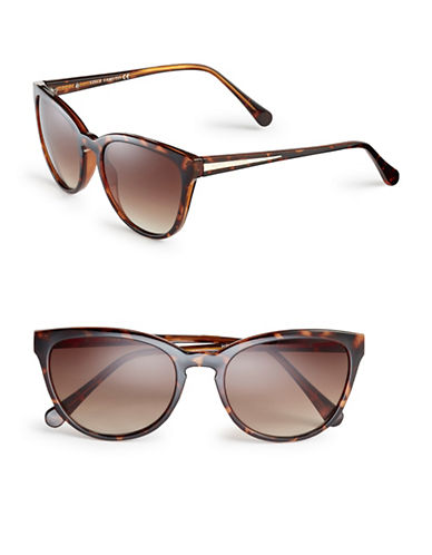 Vince Camuto VC672 Keyhole Cat-Eye Sunglasses-TORTOISE-One Size