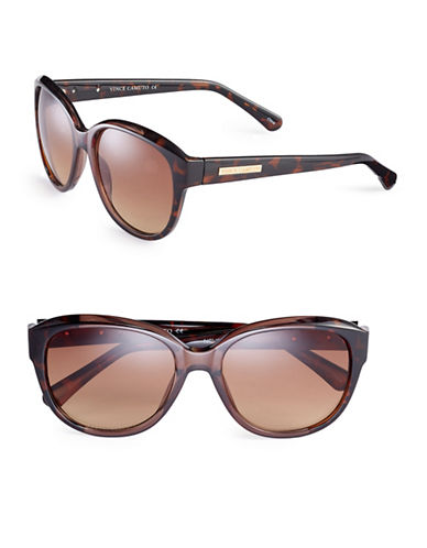 Vince Camuto VC686 Square Sunglasses-BROWN-One Size