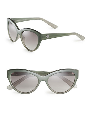 Vince Camuto VC694 Metal-Trim Cat-Eye Sunglasses-GREEN-One Size