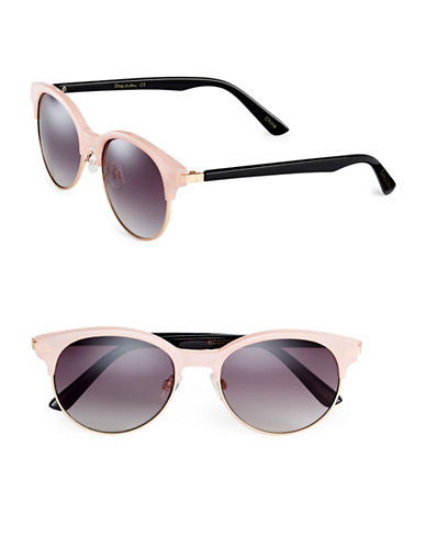 Circus By Sam Edelman CC121 53mm Clubmaster Sunglasses-ROSE-One Size