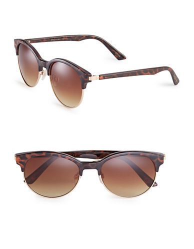 Circus By Sam Edelman CC121 53mm Clubmaster Sunglasses-TORTOISE/GOLD-One Size