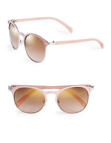 Circus By Sam Edelman CC174 Enamel Round Sunglasses-SILVER/PINK-One Size