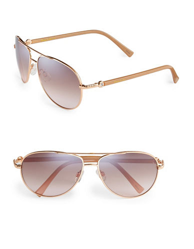 Circus By Sam Edelman CC176 Combo Aviator Sunglasses-ROSE GOLD-One Size