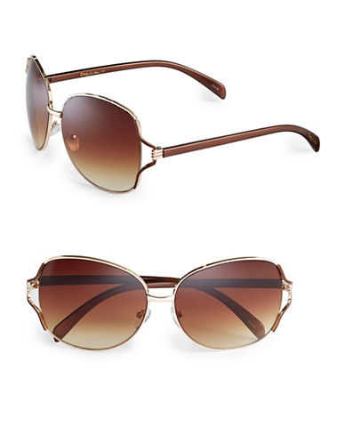 Circus By Sam Edelman CC185 Open Butterfly Sunglasses-GOLD/BROWN-One Size