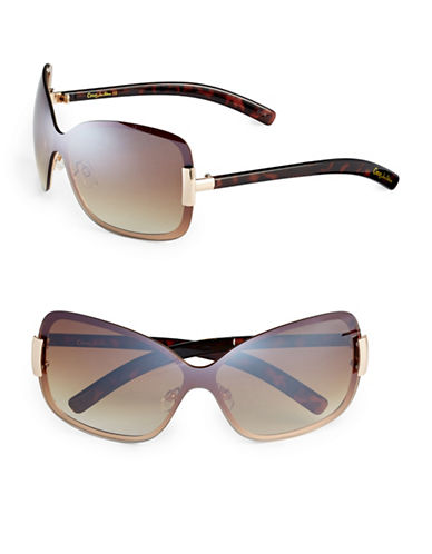 Circus By Sam Edelman CC201 Butterfly Shield Sunglasses-GOLD/TORTOISE-One Size