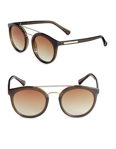 Vince Camuto 50mm Round Sunglasses-BROWN-One Size