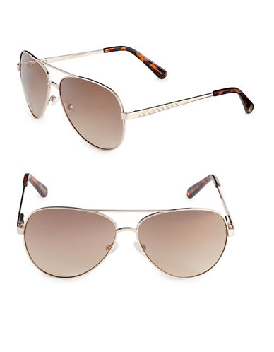 Vince Camuto 60mm Aviator Sunglasses-GOLD-One Size
