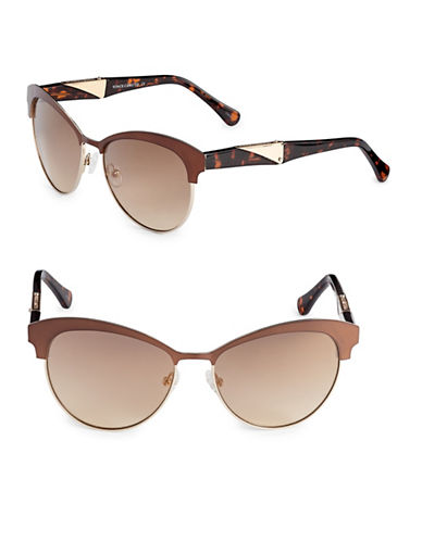 Vince Camuto Vintage Combo 59mm Cat-Eye Sunglasses-GOLD-One Size