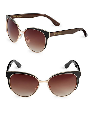 Circus By Sam Edelman 56mm Epoxy-Coated Cats Eye Sunglasses-GOLD-One Size