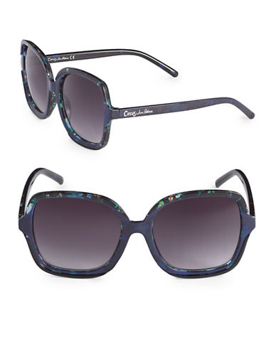 Circus By Sam Edelman CC263 55mm Square Sunglasses-BLUE-One Size