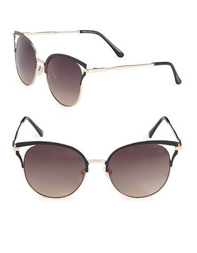Circus By Sam Edelman CC285 55mm Vented Lens Cat-Eye Sunglasses-GOLD-One Size