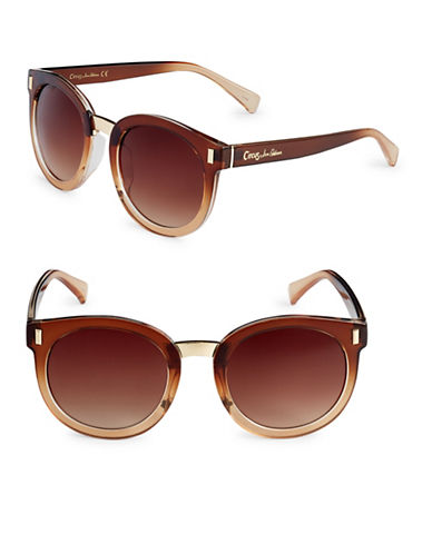 Circus By Sam Edelman 53mm Gradient Frame Round Sunglasses-BROWN-One Size