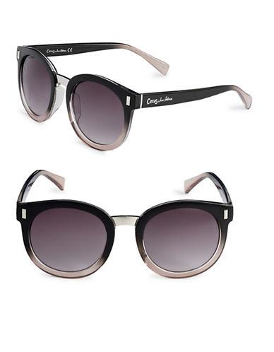 Circus By Sam Edelman 53mm Gradient Frame Round Sunglasses-BLACK-One Size
