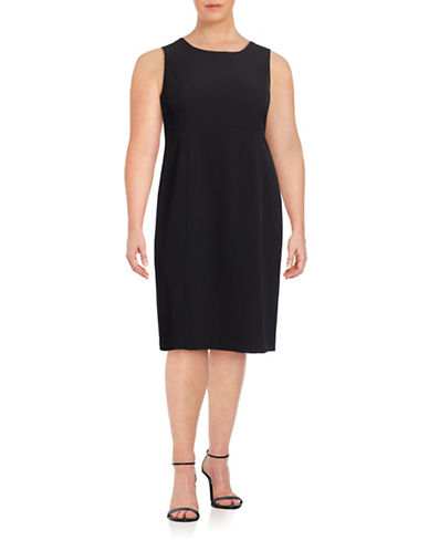 Kasper Suits Stretch Crepe Sheath Dress-BLACK-24