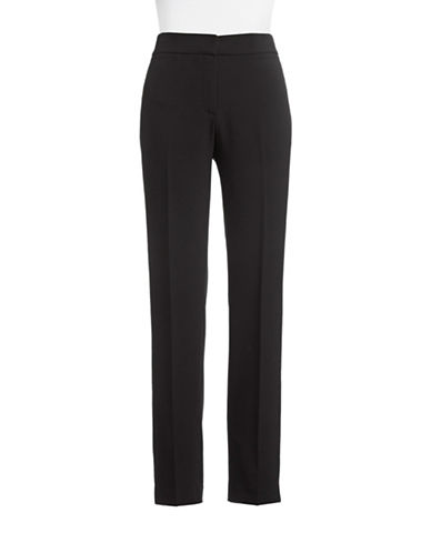 Kasper Suits Crepe Straight Leg Pants-BLACK-10