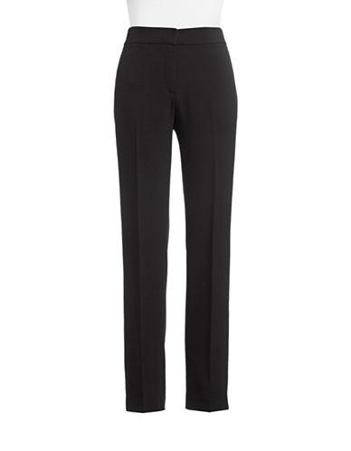 Kasper Suits Crepe Straight Leg Pants-BLACK-12